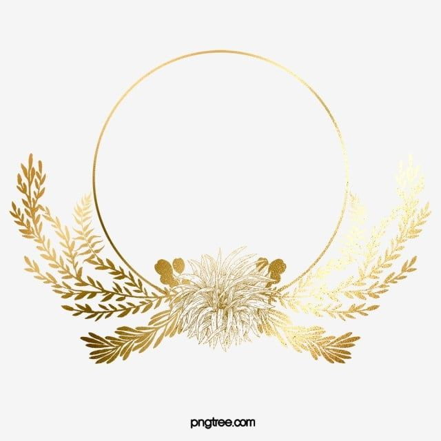 Golden Leaves Shiny Border Golden Leaf Plant Png Transparent Clipart Image And Psd File For Free Download Golden Leaves Floral Poster Logo Design Set