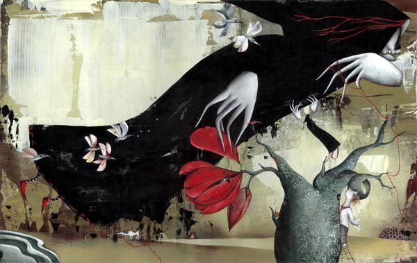 """Natalie Pudalov illustration for """"Jack and Death""""."""