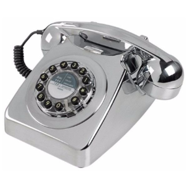 England At Home Series 746 Telephone – Chrome ($84) ❤ liked on Polyvore featuring home, home decor, british home decor and chrome home decor
