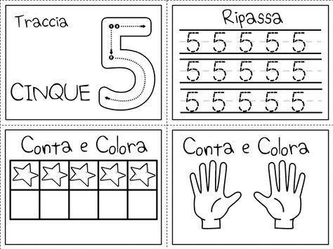 Numeri, maestra, lavoretti, scuola, giochi.