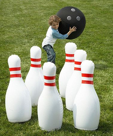 SINTECHNO, Inc. Indoor/Outdoor Giant Inflatable Bowling Set $32.99 #zulilyfinds