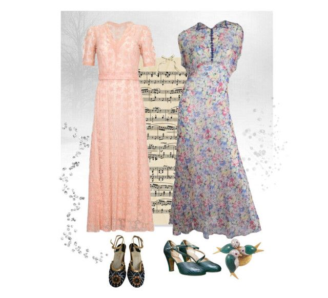 """""""1930s gowns - timeless ❤️"""" by christina-63 on Polyvore featuring Salvatore Ferragamo"""