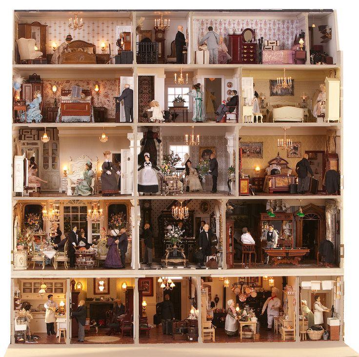 Dollhouse Miniatures Texas: 28 Best Poppenhuizen / Dolls Houses Images On Pinterest