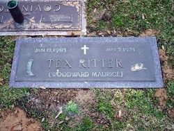 Tex Ritter ( Country Singer and Cowboy Star) father of actor John Ritter 1905-1974