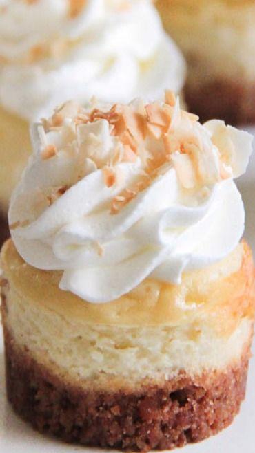 Mini Coconut Cheesecakes Recipe ~ so decadent and creamy!