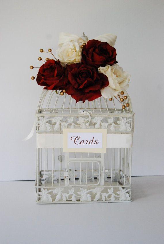 Large Wedding Birdcage Card Holder Money by