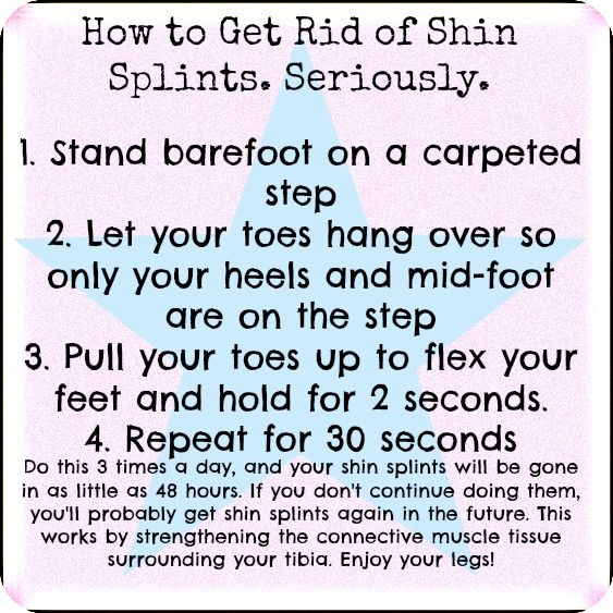 How to get rid of shin splints in as little as 48 hours. This worked for me, so I thought I'd make a quick-guide to help others!