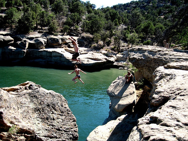 Oh man, I've jumped off that very rock many times!!! Sometimes I really miss the Land of Enchantment.