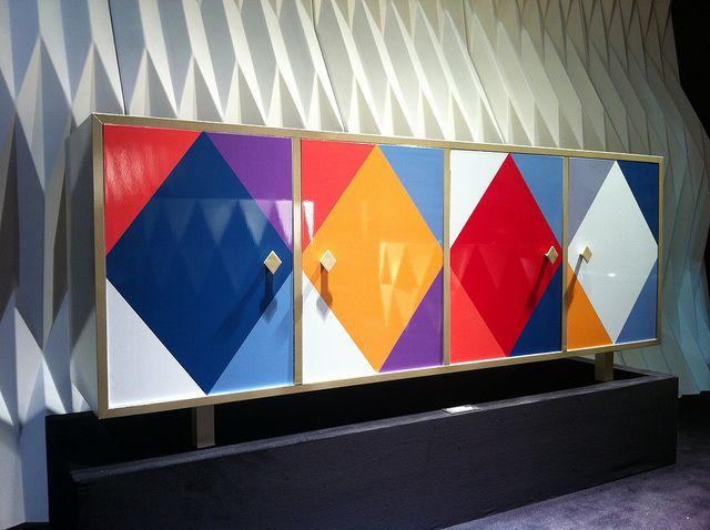 #pantalone sideboard, by @Moschino for #altreforme, #arlecchino collection at Salone del Mobile 2012 #interior #home #decor #homedecor #furniture #aluminium
