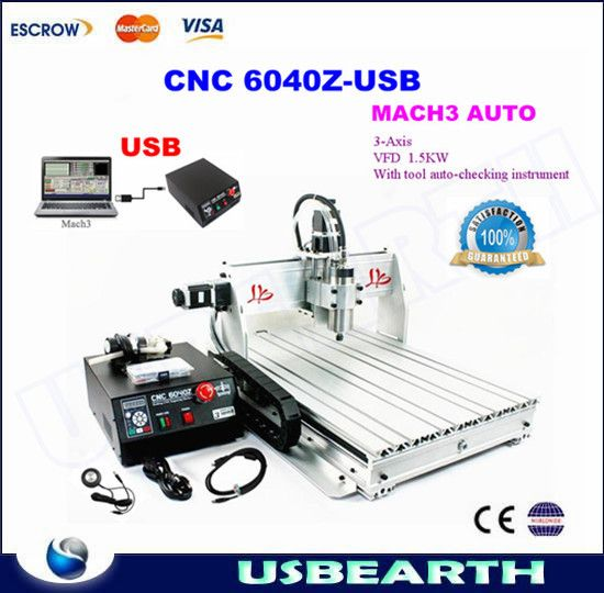 Best 1 5Kw Spindle Cnc 6040 Drilling Router Wood Router Cnc 640 x 480