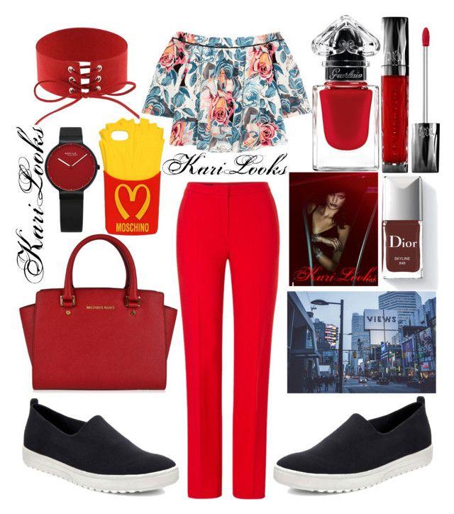 """MK.Dior"" by karilooks ❤ liked on Polyvore featuring ESCADA, Elizabeth and James, ECCO, MICHAEL Michael Kors, Moschino, Urban Decay and La Petite Robe di Chiara Boni"