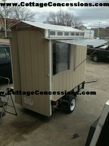 CottageConcessions.com snow cone trailer, small snow cone trailers for sale, for small snow cone machine, light weight small food trailers, snow cone, shaved ice, trailer, mobile snow cone trailer, custom snow cone trailer,