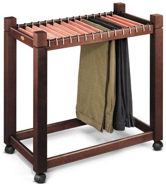 "Pant Trolley with cedar hangers (Dark Chocolate) (26.75""H x 29""W x 16.8""D)"