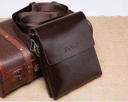 Kožená elegantná taška cez rameno POLO pre pánov (1)