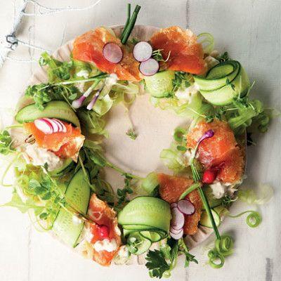 Taste Mag   Oak-smoked trout salad wreath @ http://taste.co.za/recipes/oak-smoked-trout-salad-wreath/