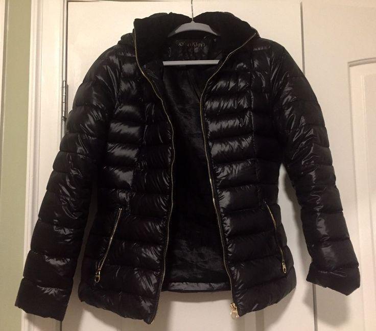 Calvin Klein Womens Puffer Coat Black Size XS  | eBay