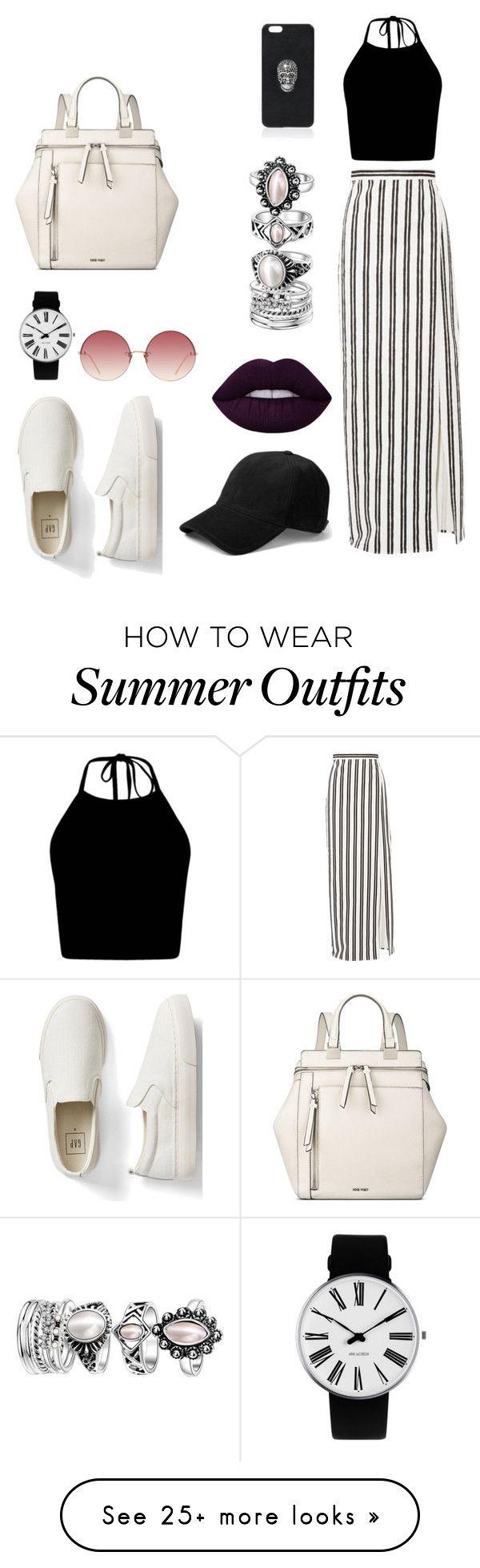"""summer outfit"" by elisaletizia on Polyvore featuring Balenciaga, Gap, Rosendahl, rag & bone, Linda Farrow, Nine West and Philipp Plein"