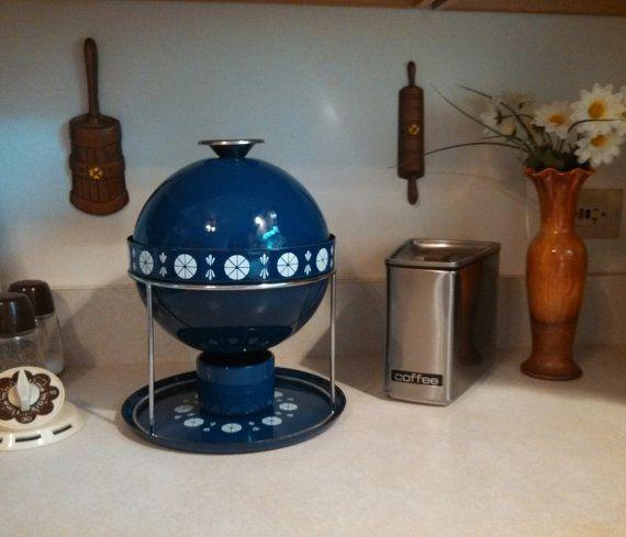 Cathrineholm Scandinavian Navy Blue Viking Snowflake Tureen Fondue Pot Set Complete