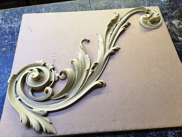 """This is our large Louis XV Scroll #9480.  It is 26""""x10½""""."""