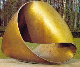 « Surface infinie », Max Bill, 1953-56, Anvers, musée de sculpture de plein air de Middelhein.