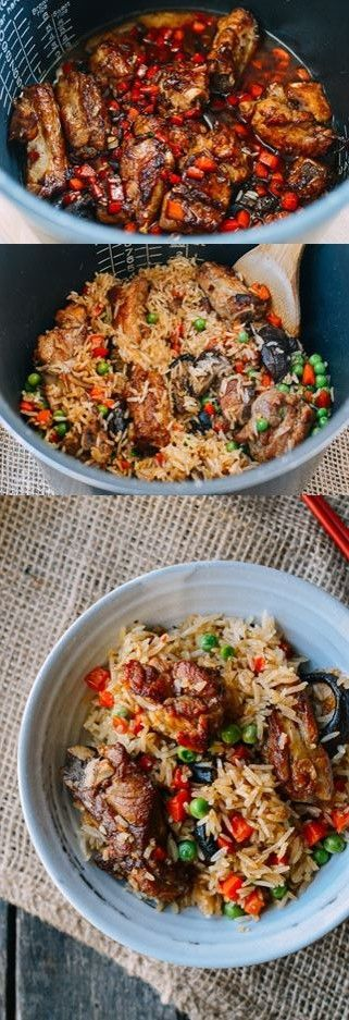 Rice Cooker Ribs and Rice