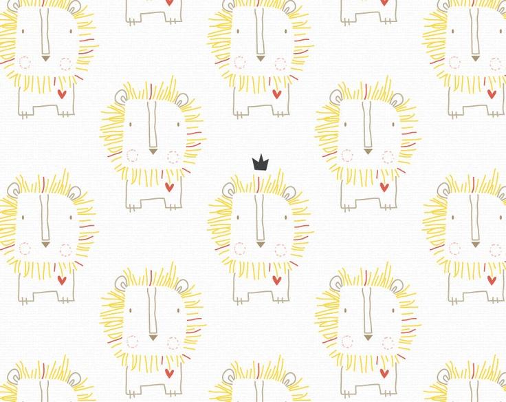 Baby Nursery Print Lion Kingdom - cute!