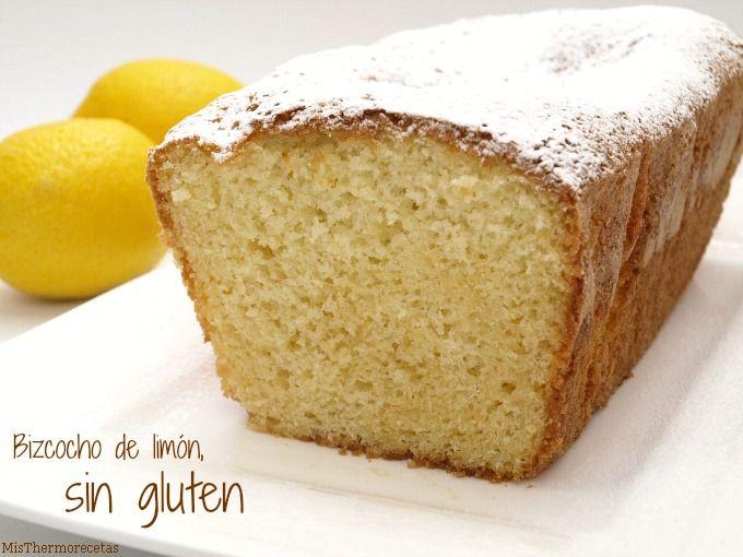 Bizcocho de limón, sin gluten