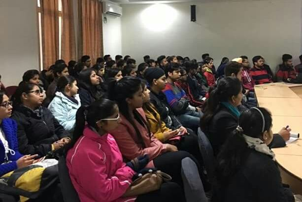 Under Vittiya Saksharta Abhiyan (VISAKA)Mr. Shailender Girdhar Deputy Vice President Axis Bank conducted a workshop for #AIMTC students in the campus. The purpose of the lecture was to actively engage the students and motivate all to use a digitally enabled cashless economic system for transfer of funds. Officials from Axis bank guided the audience about cashless transaction ways and means for cashless transactions and digitally enabled cashless economic system.