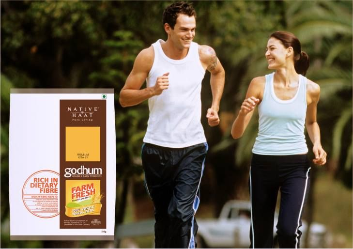 Did you know dietary fiber helps to promote good digestive #health along with countering #obesity, reduced cholesterol and lower risk of #diabetes?  #Godhum #FarmFresh Atta is rich in dietary fibers.