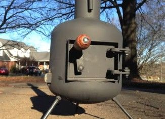 Cool DIY Video : How to convert an Old Propane tank into a Wood stove .Step by Step Instructions .
