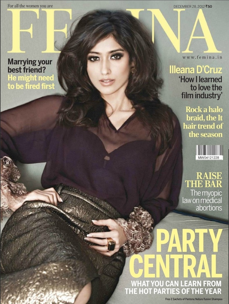 Illeana D'Cruz on The Cover of Femina Magazine - December 2012.