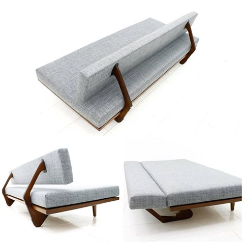 It would be a good night for sure on this Franz Hohn daybed.  Manufactured by Honeta in the 50s. Click on the image to see more mid-century modern furniture!