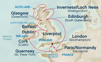 British Isles Cruise  This is the cruise ports I will be visiting !!!