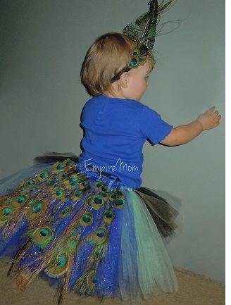 DIY Halloween Costume Idea: Baby Peacock