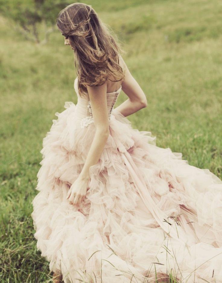 Backstage / Wedding Style Inspiration / LANE Fields of Romance Editorial by Lauren Ross http://thelane.com/backstage/posts/page:4#editorial #rustic #countrywedding #weddingdress #ruffles #blush #wedding #bride  #TheLANEweddings #BulgariResortBaliEscape