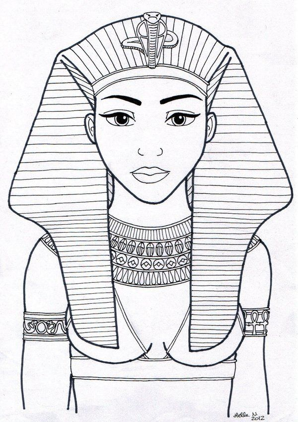 egyptian queen drawing - photo #4