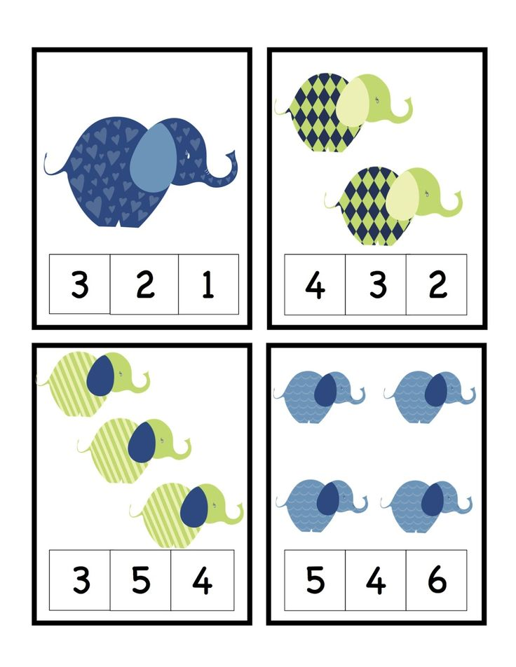 Preschool Printables - additional numbers available. Laminate, cut in 1/4s, and put on a ring. Would work in a busy bag.