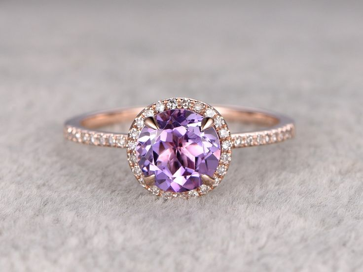 21 ideas for a breathtaking amethyst wedding - Purple Wedding Ring