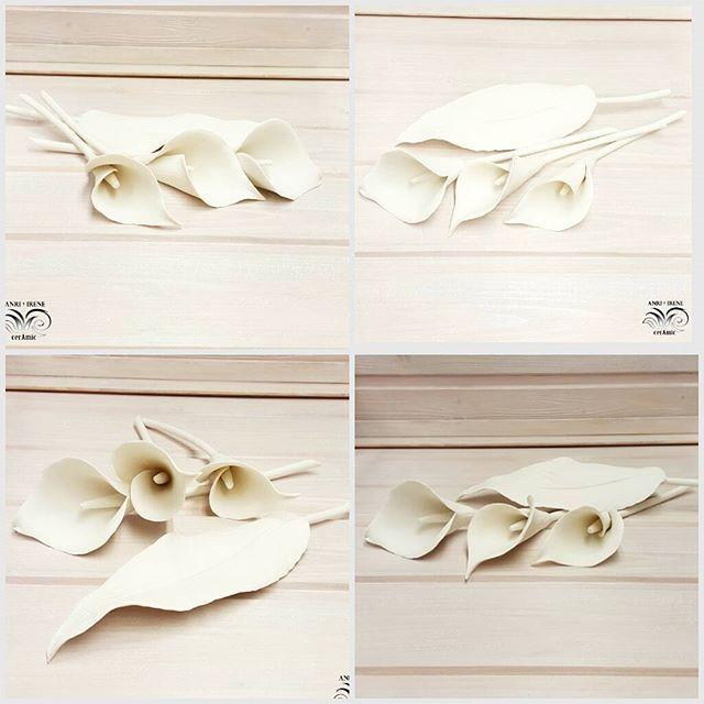 "Porcelain calla lily, details. Handmade, firing  porcelain ""southern ice""  #porcelain #porcellana #porcelaine #porzellan #southernice #porcelainflowers #ceramicflora #ceramicflowers #clayflowers #calla #lily #ceramiclily #porcelainlily #ceramics #keramik #керамика #interiordesign #homesweethome #homedesign #tablescape #tabledecor #tablesetting #rustic #loft #vintage #ceramicleaf #interiordecor #decoration #anriirene #керамическаяфлористика"