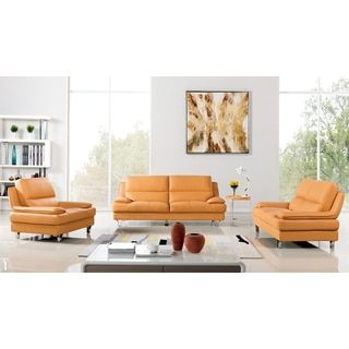 Shop for Yellow Genuine Leather Sofa Set. Get free delivery at Overstock.com - Your Online Furniture Shop! Get 5% in rewards with Club O!