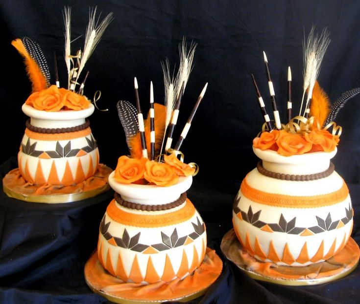 Traditionally, Africans did not cut cake at the wedding. In Kikuyu tradition, they cut the meat on the shoulder of a goat. Cakes came with European colonization. That said wedding cakes in Africa are taking on a more African feel. African wedding cake designs take on the form of safari themes, pot designs, earth colors and more.    African