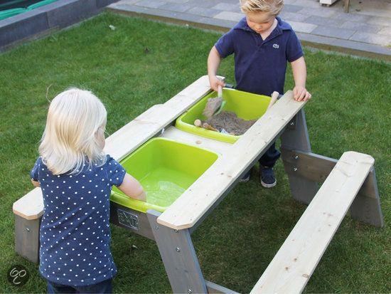 bol.com | EXIT Aksent Zand- en Water Picknicktafel - 2 bankjes | Speelgoed