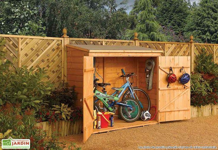Coffre de Rangement en Bois pour 2 Vélos 182x82x164cm (l,l,h)