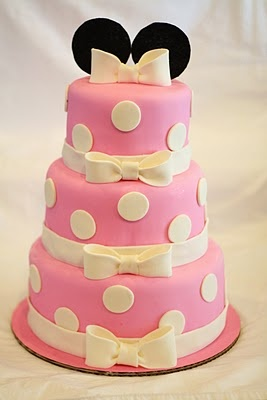 Minnie Mouse 3 Tier Birthday Cake