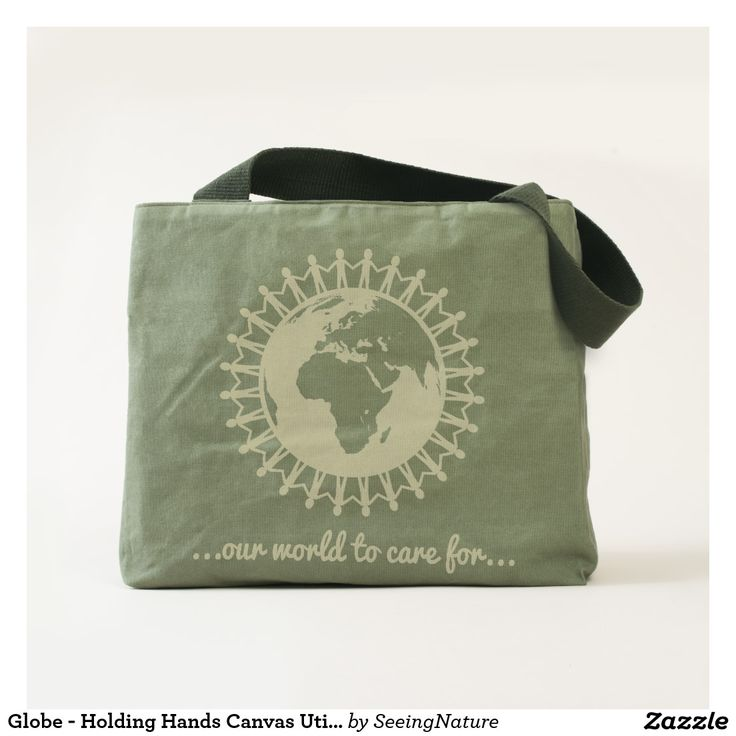 Globe - Holding Hands Canvas Utility Tote Bag