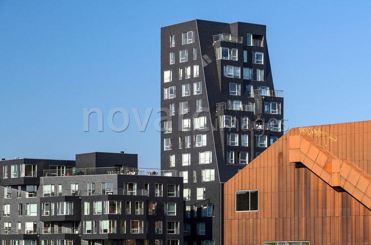 Modern apartment house, Copenhagen, Denmark