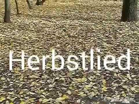 Herbstlied/Autumnsong (spoken lyric in german). Lyric by Ludwig Tieck 1773-1853. Speaker: Bert
