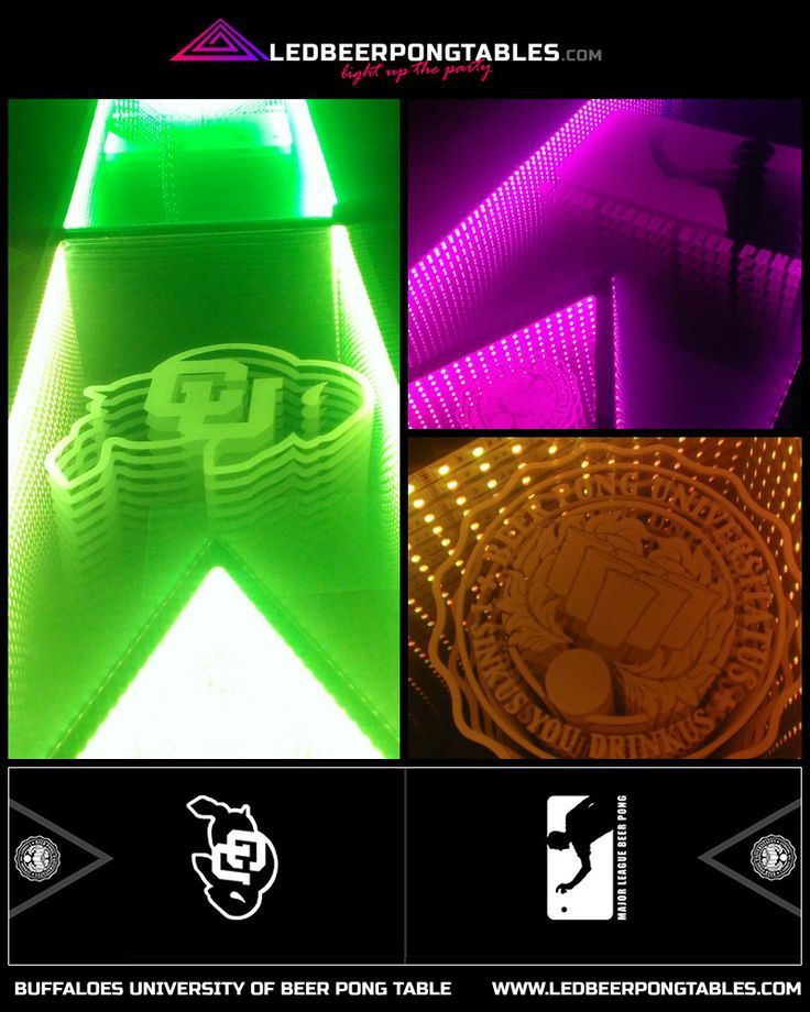 Best Custom Infinity Glow LED Beer Pong Tables Images On - Custom vinyl decals for beer pong tables