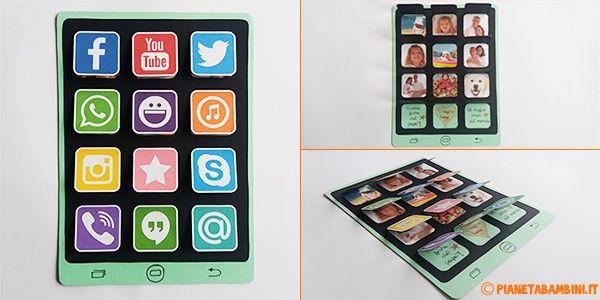 Lavoretti per la Festa del Papà: il Tablet di Carta con Foto