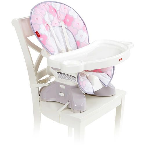 Fisher-Price SpaceSaver High Chair - Petal Pink